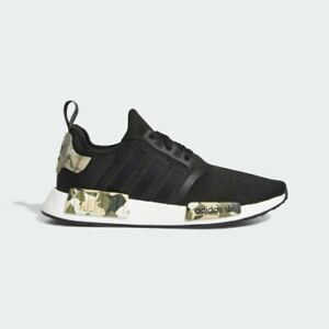 NEW-170-adidas-Men-039-s-NMD-R1-SHOES-CORE-BLACK-SAVANNAH-FW6417