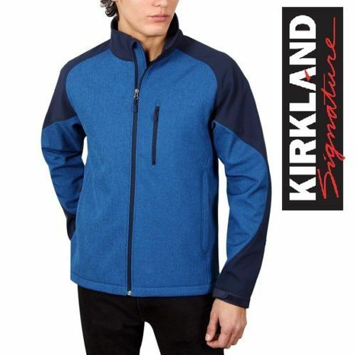 Marine Blue Heather Color Kirkland Signature Men/'s Softshell Jacket