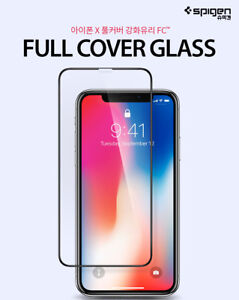 buy online d67cb 22bb4 Details about Spigen iPhone X XS Max Premium Full Coverage Tempered Glass  Screen Protector
