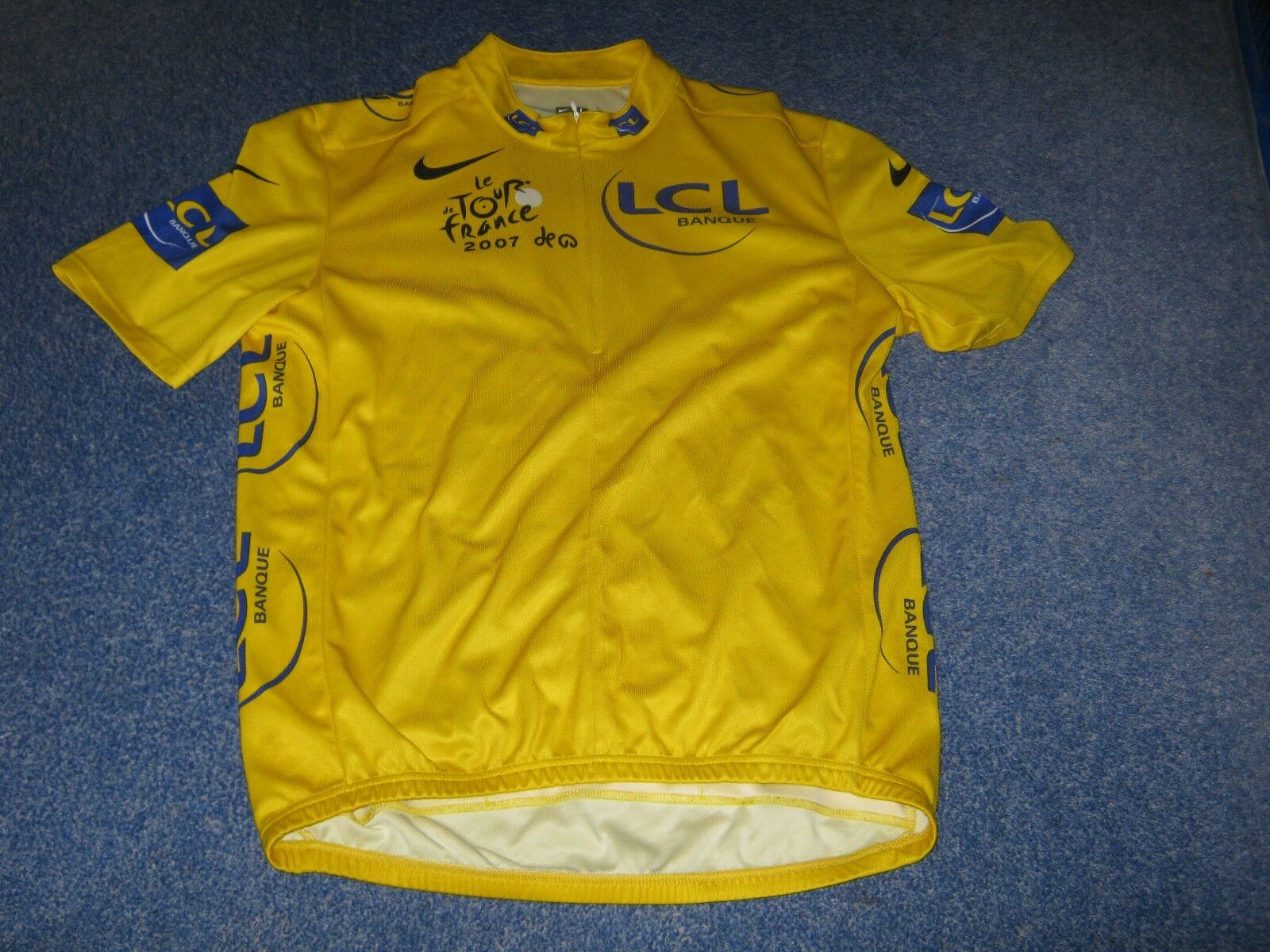 TOUR DE FRANCE 2007 NIKE YELLOW  LEADERS CYCLING JERSEY [Large adult]  hot sale online