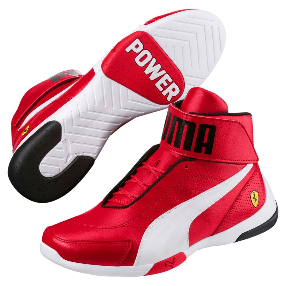 Neuf Nib Homme Puma Ferrari Kart Chat Iii Mi Sf Haut Chaussures Baskets Rouge