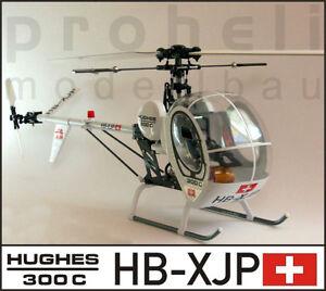 Rumpfbausatz-Fuselage-Kit-Hughes-300C-fuer-T-Rex-450-oder-andere-450er-Helis