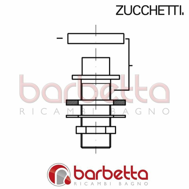 SUPPORTO DOCCIA COMPLETO BORDO VASCA AGUAbleu ZUCCHETTI R99969