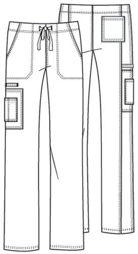 Scrubs Cherokee Workwear Drawstring Cargo Pant 4043 PWTW Pewter Free Shipping