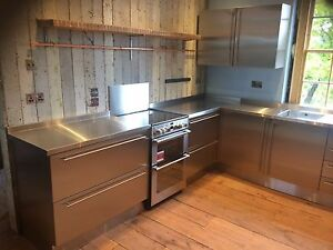Image Is Loading Stainless Steel Kitchen Cabinet Doors