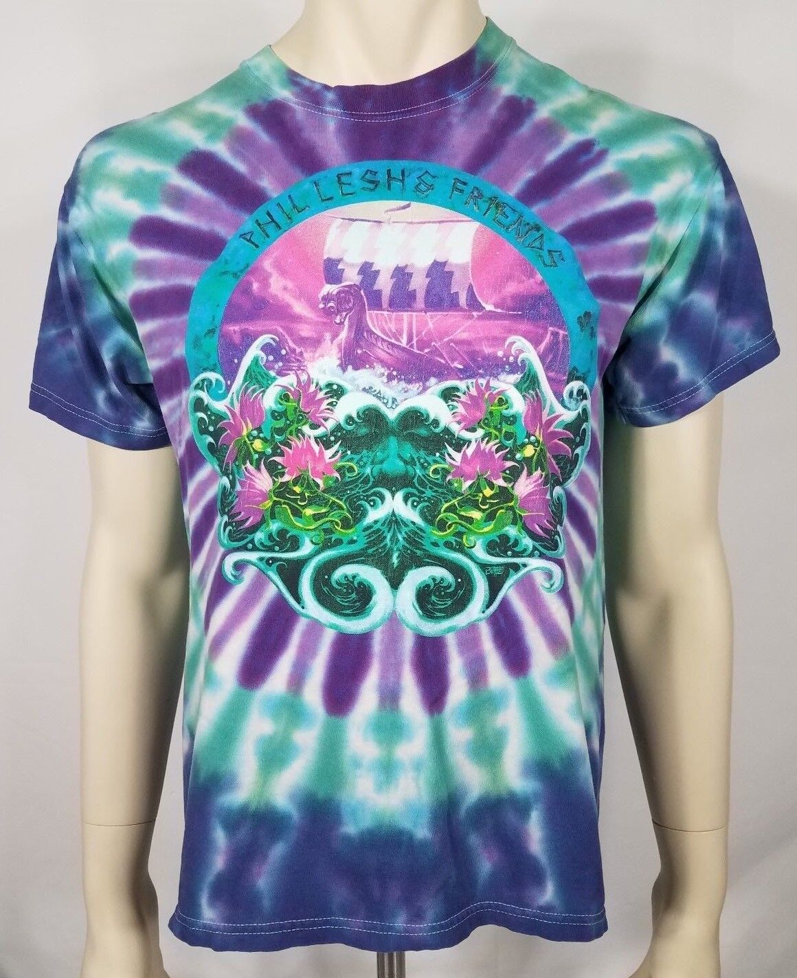 Phil Lesh and Friends Odyssey Summer Tour 2001 Blau tie dye t-shirt adults Large