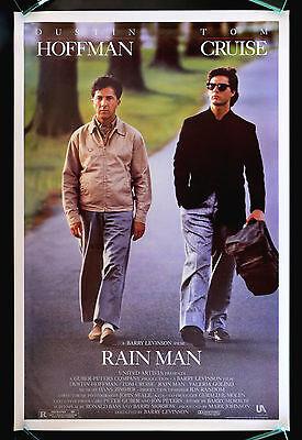 RAIN MAN * CineMasterpieces ORIGINAL NM-M C9-C10 ROLLED MOVIE POSTER TOM CRUISE