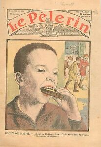 Portrait-Schoolboy-Ecolier-Rentree-Classes-Ecole-Libre-Catholique-School-1935
