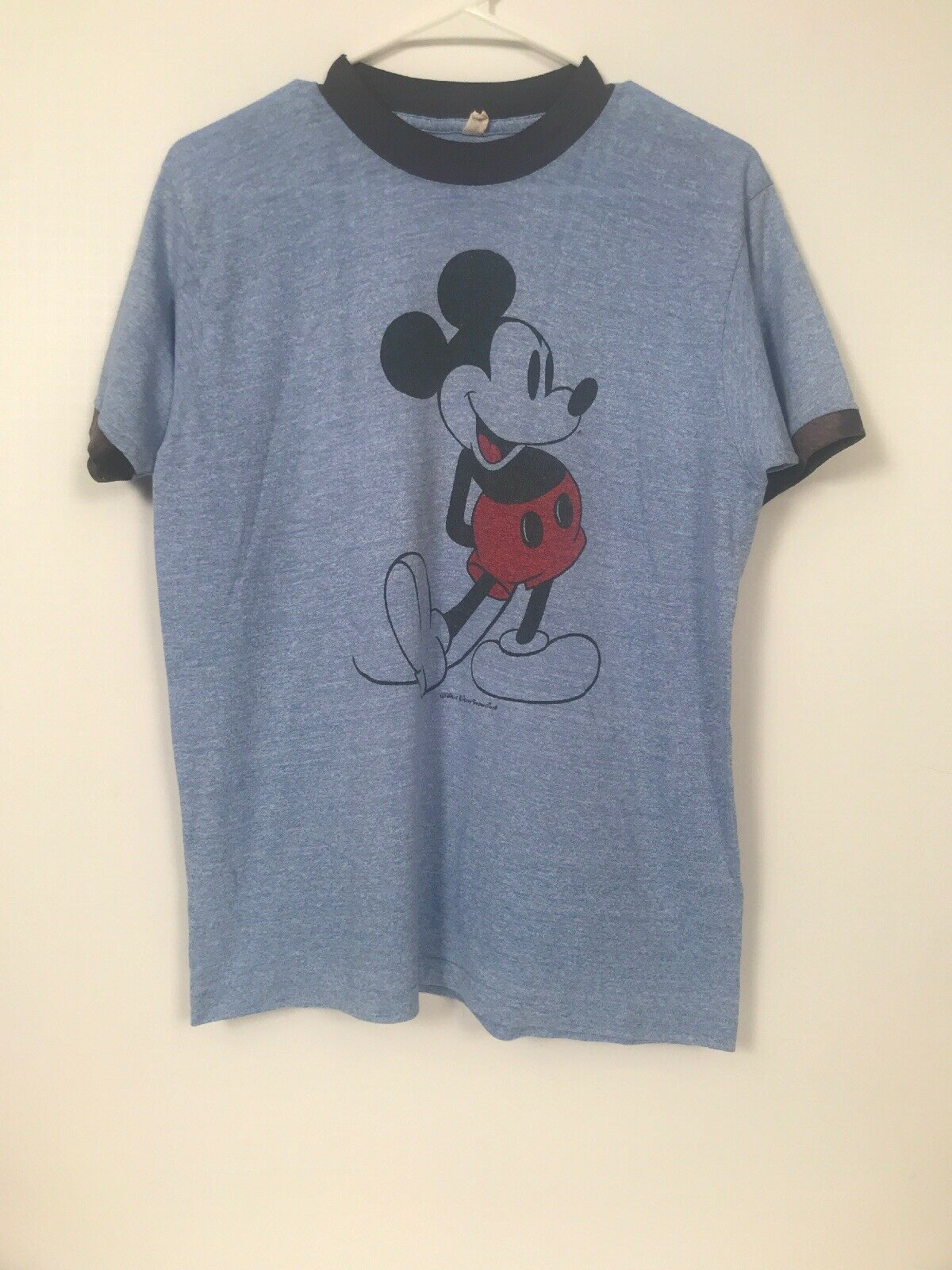 Lacoste Men/'s Steamer Blue Disney Mickey Mouse Graphic Crew Short Sleeve T-Shirt