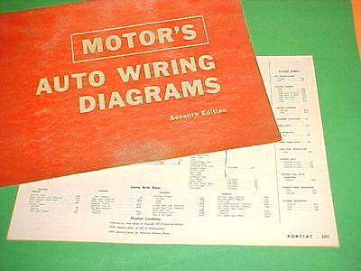 1963 1964 1965 1966 1967 Pontiac Grand Prix Bonneville Catalina Wiring Diagrams Ebay