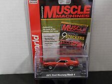 AUTO WORLD 1971 FORD MUSTANG MACH 1 IN RED 1/64 SCALE DIECAST SEE PICTURES
