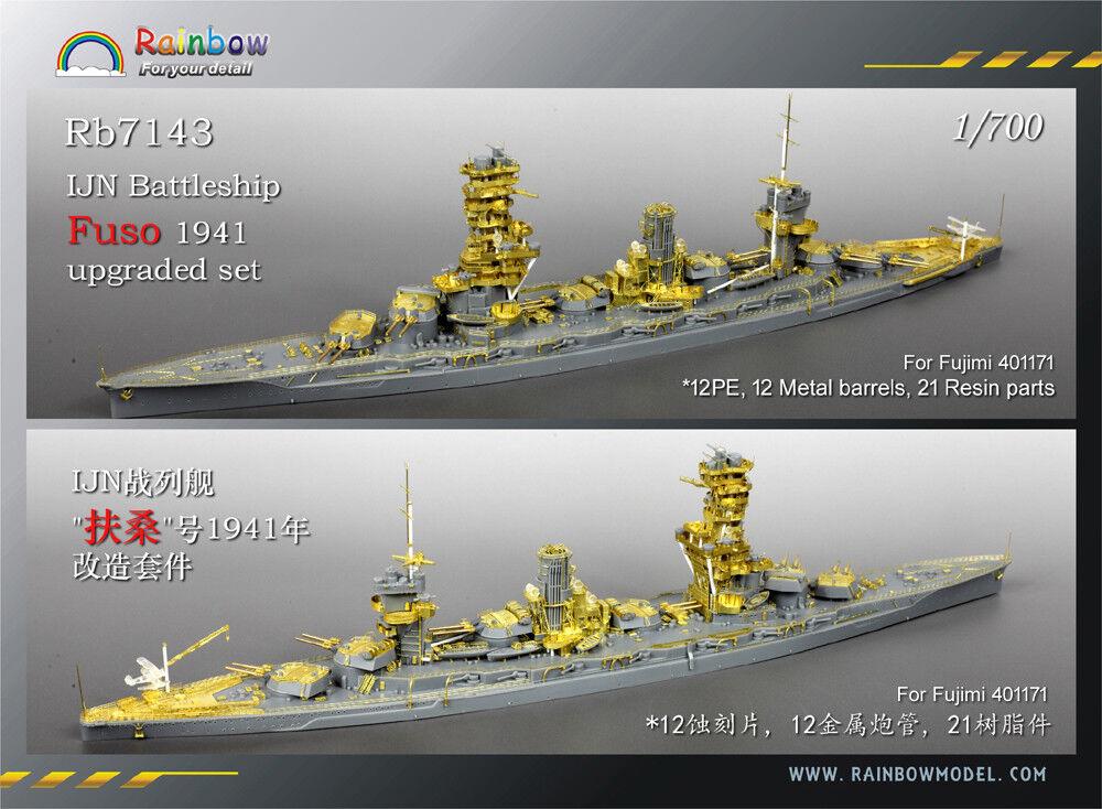 Rainbow 1 700 Rb7143 IJN Battleship Fuso 1941 for Fujimi