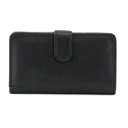 Italian ladies Leather Flap Over Tab Purse By Tony Perotti rrp £64.00