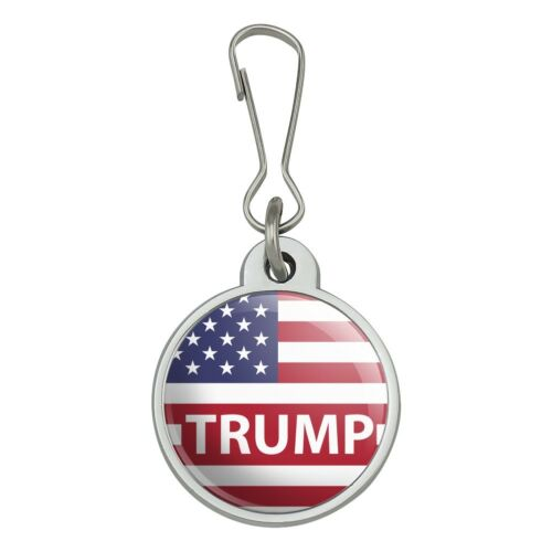President Trump American Flag Jacket Handbag Purse Zipper Pull Charm