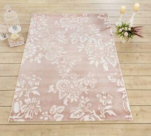Kinderteppich Kinderzimmer Teppich Spielteppich Rosa Madchen Flower