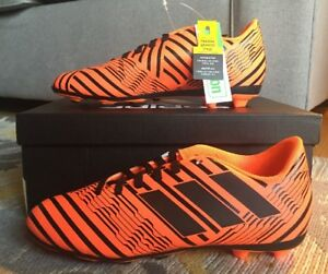 194cae792ff Adidas Nemeziz 17.4 FxG J Soccer Cleats Orange Black S82460 Size 4 ...