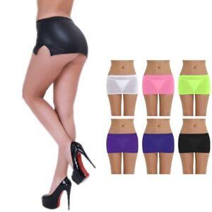 Micro mini skirts very high heels dressed like Womens Sheer Pleated Mini Skirt Micro Dress Bodycon Tight Booty Short Nightwear Ebay