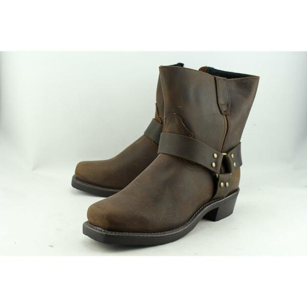 """Dingo Men/'s 7/"""" Leather Rev Up Gaucho Boot with Snoot Toe and Dogger Heel"""
