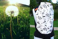 Sale Holiday Travel Mei Tai Since Birth -3 Years Dandelions Black Reversible