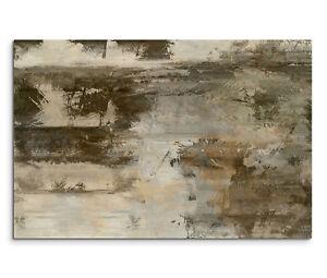 Das Bild Wird Geladen 120x80cm Wandbild Malerei Acryl Abstrakt Braun Grau  Beige