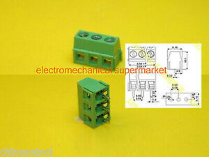 50pcs-KF127-3P-3Pin-Plug-in-Terminal-Block-Connector-Panel-5-0mm-pitch
