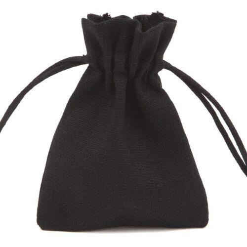 7 Colors Wedding Favor Drawstring Cotton Jute Linen Jewellery Pouch Gift Bags