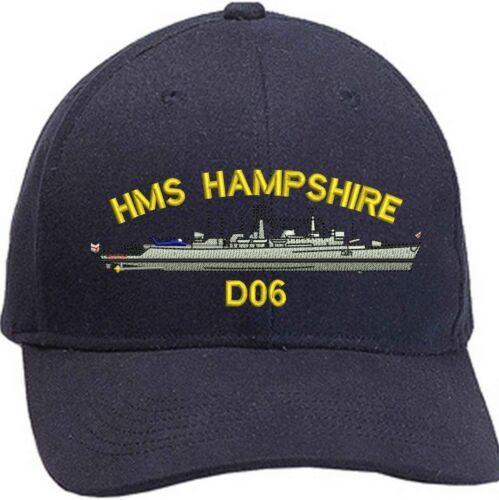 HMS Hampshire GMD Destroyer brodé Casquettes de base-ball /& Bonnets
