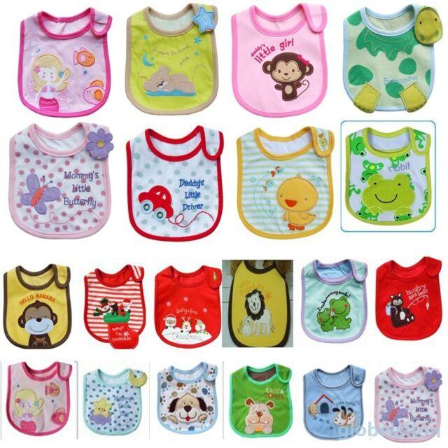 Baby Towel Saliva Waterproof New Kids Cartoon Pattern 3 Layer Toddler Lunch Bibs