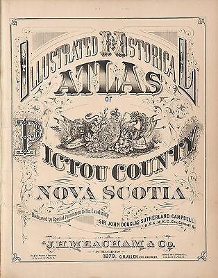 1879 Atlas Map of Kosciusko County Indiana History Genealogy Book on CD