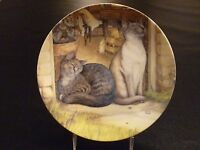 Sunshine Zoe Stokes Zoe's Cats American Artists Cat Collector Plate