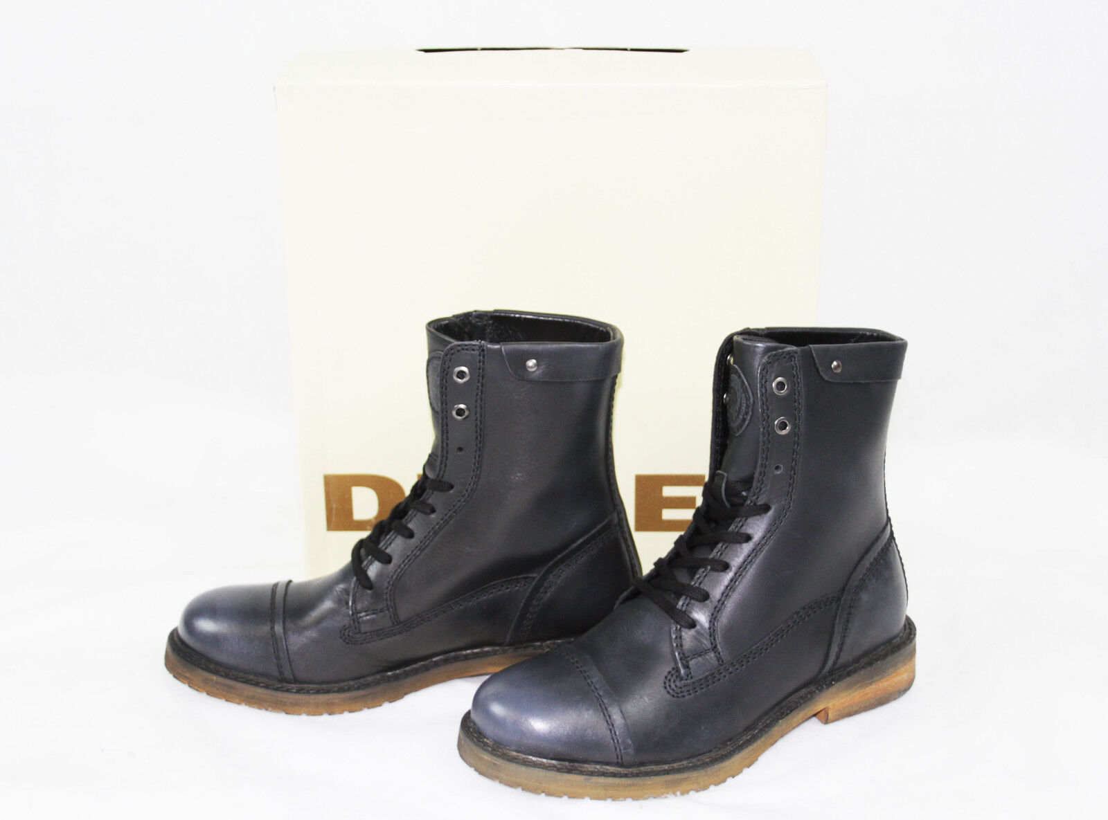 DIESEL Brand Men's Fashion Leather UNPLAGGED Casual, Dress Ankle Boots Shoes