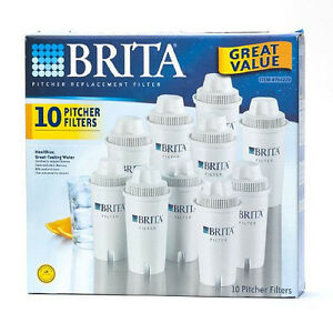 10 pack brita replacement filters for classic everyday water pitcher dispenser ebay. Black Bedroom Furniture Sets. Home Design Ideas