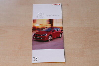 83726) Honda Civic 3-türer Benziner - Preise & Extras - Prospekt 10/2004