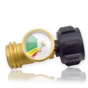 Propane Tank Gauge RV Pressure Brass Adapter Gas Level Meter Grill Accessories
