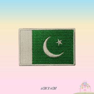 Pakistan National Flag Embroidered Iron On Patch Sew On Badge