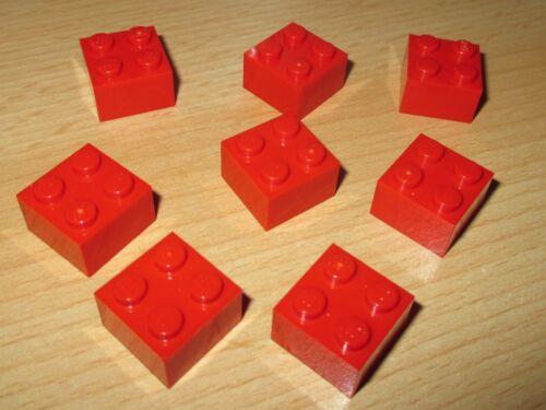 2x2 8 Stück in Rot Steine Lego Basic