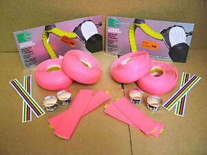 New-Old-Stock-Casiraghi-Padded-Bar-Wrap-Neon-Pink-w-End-Plugs-Two-Packages