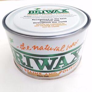 Briwax-Dark-Oak-Furniture-Wax-Polish-Wood-Cleaner-Restorer-400g-Natural-Tin