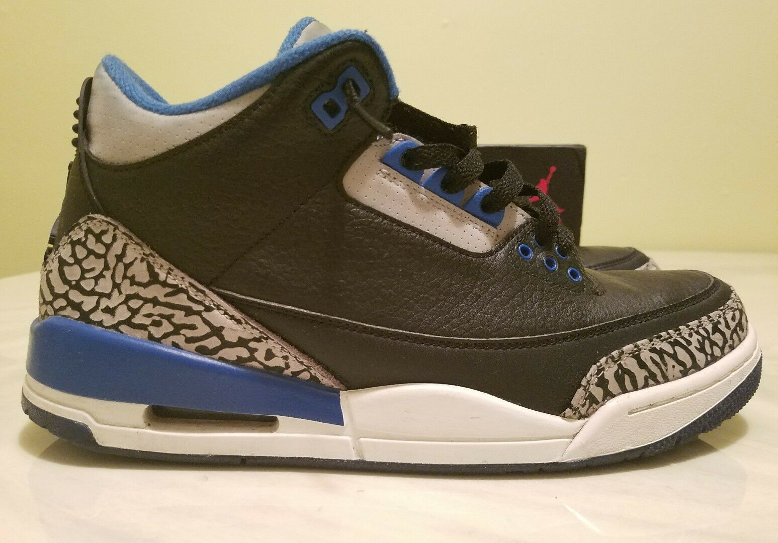 Nike air jordan 3 amatori sport blu dimensioni x / che lebron yeezy melo cp3 kd pg sb