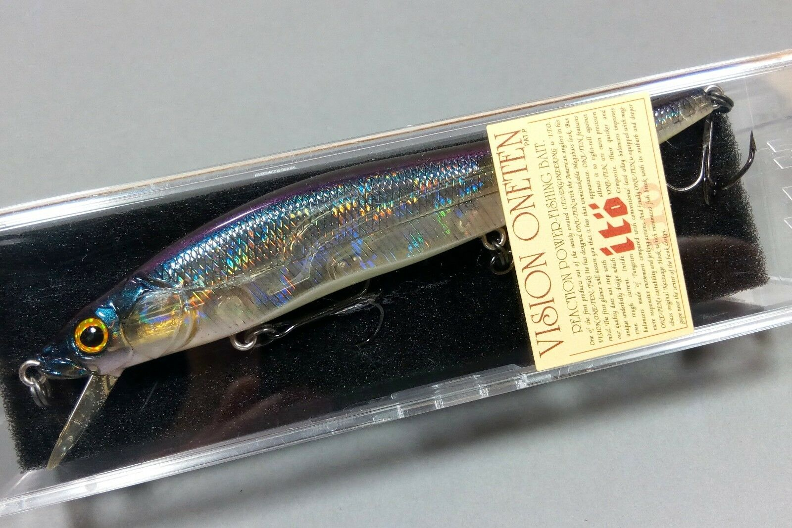 Megabass Vision  110 OneTen = GP IL CHART TAIL 2001 = Straight Eyes = NIB  shop clearance