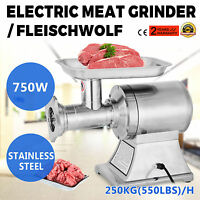 1HP Electric Commercial Mincer Meat Sauage Grinder Industrial Efficient powerful