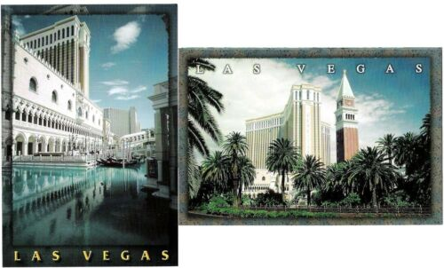 2 The Venetian Hotel Casino Las Vegas Exterior canal Day View postcard lot NEW a