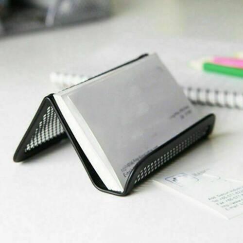 Metalldraht Visitenkartenständer Halter Rostschutz Büro Schreibtischzubehö Neue