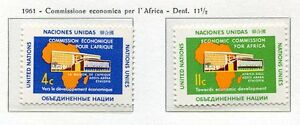 19041) UNITED NATIONS (New York) 1961 MNH** Nuovi** Africa