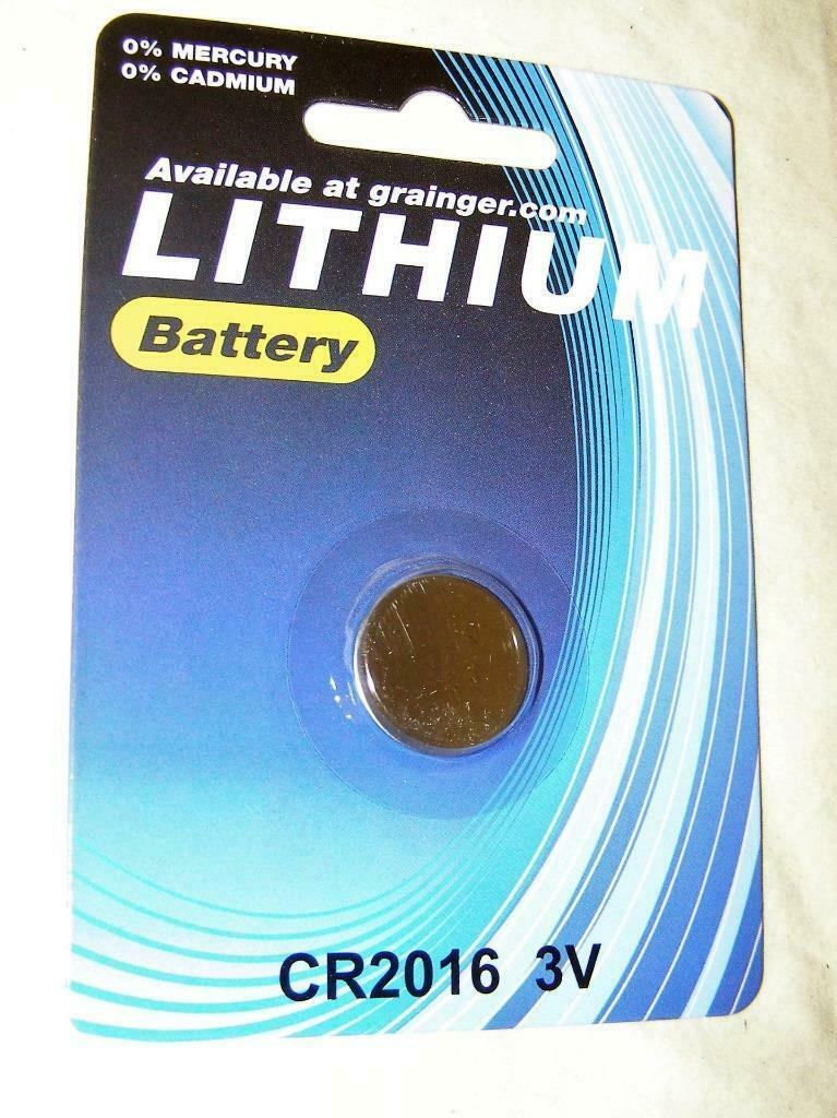 Grainger Lithium Battery CR2016/ DL2016/ E-CR2016 - 3v - 100 Pcs New Sealed