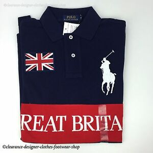 Ralph lauren polo shirt big pony polo navy great britain for 6xl ralph lauren polo shirts