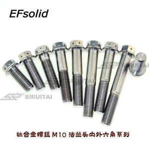 M10 x 20//25//30//35//40//45//50//55//60//65//70//75//80//90 Titanium Flange Screws Bolts