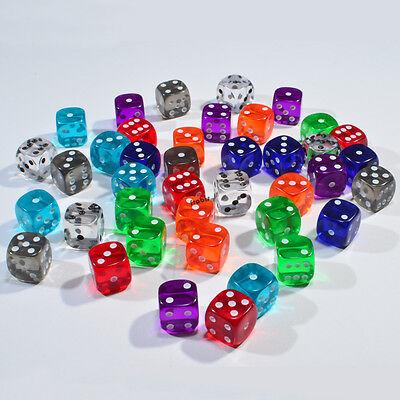 Spiele Würfel von Frobis 100 Rundwürfel im Mix von jeder Farbe vier 21,5 mm