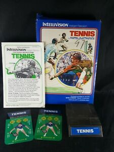 Vintage-1980-Intellivision-Tennis-Video-Game-Mattel-Electronics-Complete