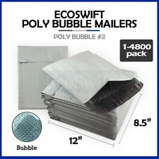 1 4800 2 85x12 Ecoswift Poly Bubble Mailers Padded Envelope Bags 85 X 12